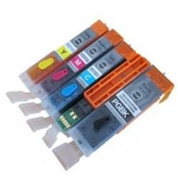 Lot de 5 Cartouches Rechargeables compatible Canon PGI-550/CLI-551