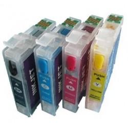 Lot de 4 Cartouches T1631-4 Rechargeables compatible Epson