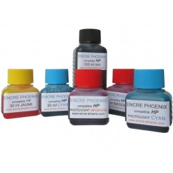 KIT DE RECHARGE 5 COULEURS 250 ml compatible HP Photosmart
