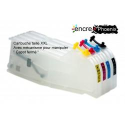 KIT DE 4 CARTOUCHES RECHARGEABLES XXL LC985 - LC1000 LC1100