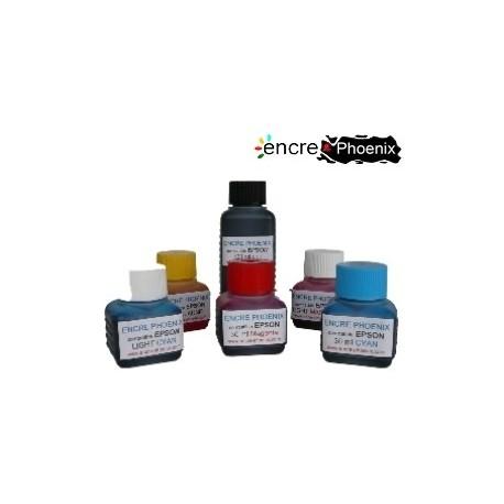 KIT DE RECHARGE 5 COULEURS 250 ml compatible EPSON Stylus Couleur