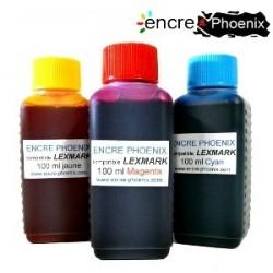 Encre en bouteille 100 ml compatible Lexmark