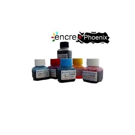 KIT DE RECHARGE 5 COULEURS 250 ml compatible CANON