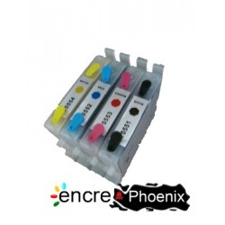 4 CARTOUCHES RECHARGEABLES T0551