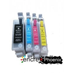 4 CARTOUCHES RECHARGEABLES T0321
