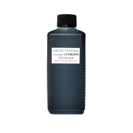 Encre en bouteille 250 ml compatible Lexmark