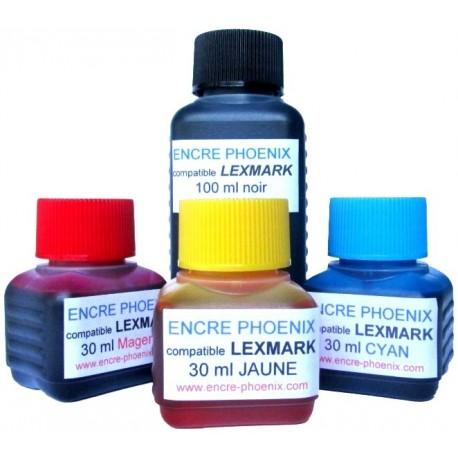 KIT DE RECHARGE 190ml compatible Lexmark S