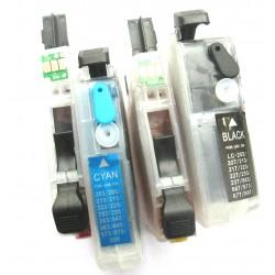 KIT DE 4 CARTOUCHES RECHARGEABLES LC 1000 - LC 1100 LC1280