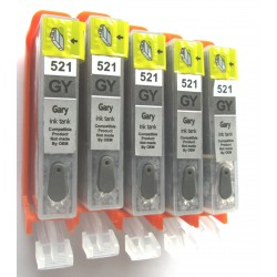 CARTOUCHES RECHARGEABLES CLI-521 GRIS