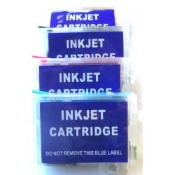 Lot de 4 Cartouches T502 Rechargeables compatible Epson
